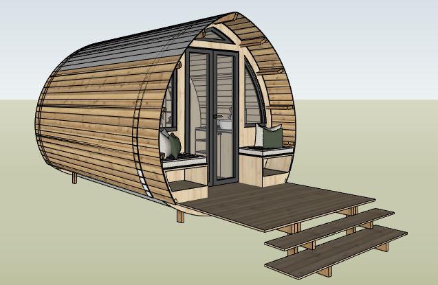 conceptualisation cabane bois - one's trip construction en bois mobile