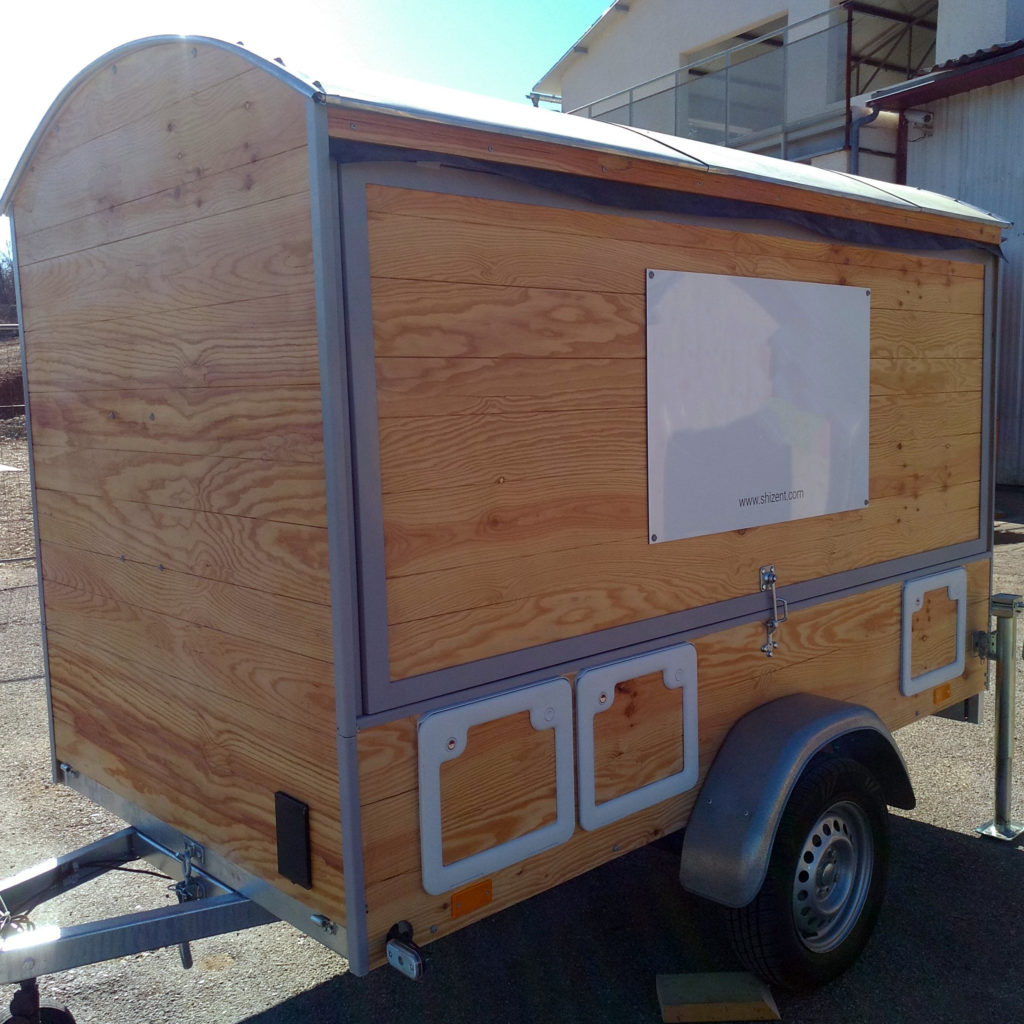 food truck - One's trip construction bois transportable