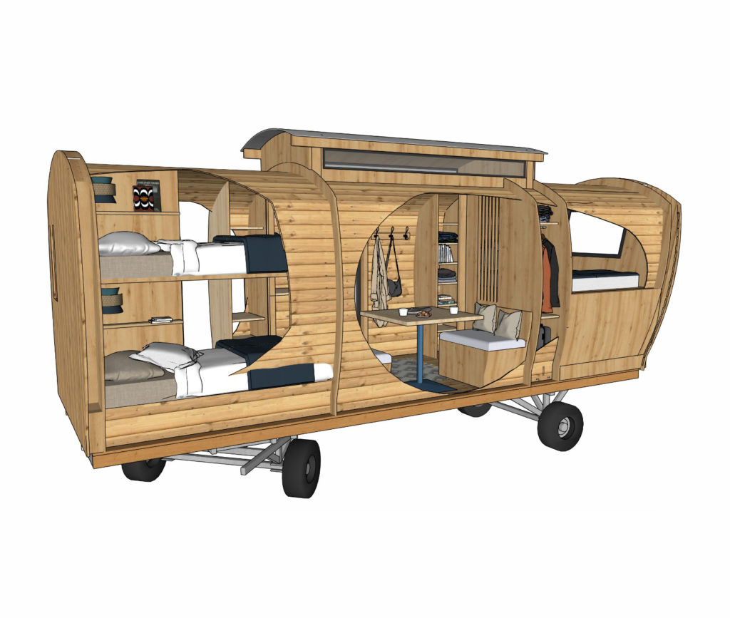 caractéristique technique roulotte - one's trip construction bois mobile